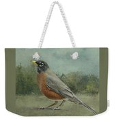 Robin Abstract Background With Texture Weekender Tote Bag