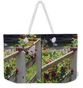 Robin And Roses - Gently Cross Your Eyes And Focus On The Middle Image That Appears Weekender Tote Bag