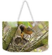 Robin Feeding Young Weekender Tote Bag