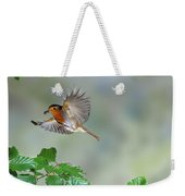 Robin Flying To Nest Weekender Tote Bag