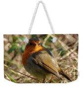 Robin In Hedgerow 2 Inch Donegal Weekender Tote Bag