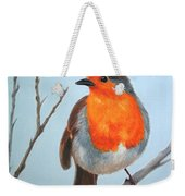 Robin In The Tree Weekender Tote Bag