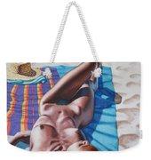 Robin At The Beach Weekender Tote Bag