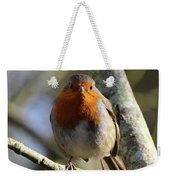 Robin On Branch Donegal Weekender Tote Bag