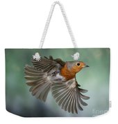 Robin On The Wing Weekender Tote Bag