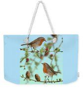 Robins On Larch Weekender Tote Bag
