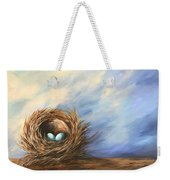 Robin's Two Eggs Weekender Tote Bag