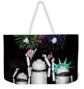 Robo-x9 And Family Celebrate Freedom Weekender Tote Bag
