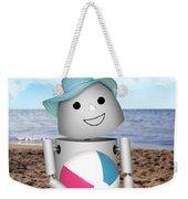 Robo-x9 At The Beach Weekender Tote Bag