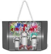 Robo-x9 Celebrates Freedom Weekender Tote Bag