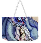 Robot Dragon Lady Weekender Tote Bag
