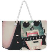 Robotic Mech Under Vintage Spotlight Weekender Tote Bag