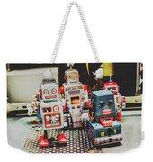 Robots Of Retro Cool Weekender Tote Bag