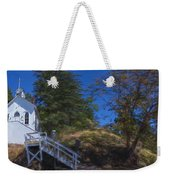 Roche Harbor Chapel In San Juan Island Weekender Tote Bag