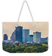 Rochester Ny Skyline At Dusk Weekender Tote Bag