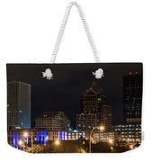 Rochester Skyline From Freddie-sue Bridge Weekender Tote Bag