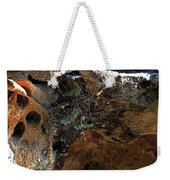Rock Abstract With A Web Weekender Tote Bag