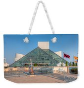 Rock And Roll Hall Of Fame I Weekender Tote Bag by Clarence Holmes
