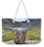 Rock At Abyss Lake Weekender Tote Bag