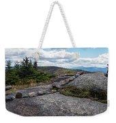Rock Boundaries On Casecade Mountain Keene Ny New York Weekender Tote Bag