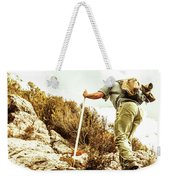 Rock Climbing Mountaineer Weekender Tote Bag