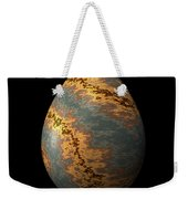 Rock Egg With Warm Yellow Lines Weekender Tote Bag