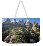 Rock Formations Montserrat Spain Weekender Tote Bag