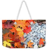Rock Garden Autumn Leaves Weekender Tote Bag