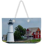 Rock Island Lighthouse July Weekender Tote Bag