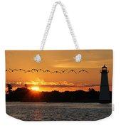Rock Island Lighthouse Weekender Tote Bag