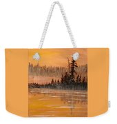 Rock Lake Morning 3 Weekender Tote Bag