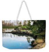 Rock Lined Pond Weekender Tote Bag