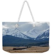 Rock Mountain Front- Train Weekender Tote Bag