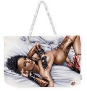 Rock N Rolla Weekender Tote Bag by Pete Tapang