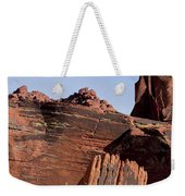 Rock Texture And Lichen Weekender Tote Bag
