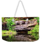 Rock Wall Reflections Weekender Tote Bag
