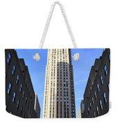 Rockefeller Center New York City Weekender Tote Bag