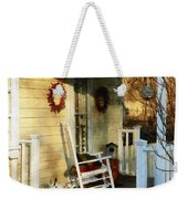 Rocking Chair On Side Porch Weekender Tote Bag