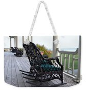 Rocking Chairs On The Porch Weekender Tote Bag