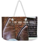 Rocking Kicks Quote Weekender Tote Bag