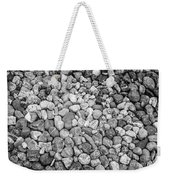 Rocks From Beaches In Black And White Weekender Tote Bag