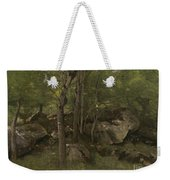 Rocks In The Forest Of Fontainebleau Weekender Tote Bag