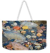 Rocks Of Many Colors On Lake Superior Shoreline In Pictured Rocks National  Weekender Tote Bag
