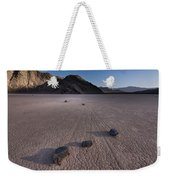 Rocks On The Racetrack Death Valley Weekender Tote Bag