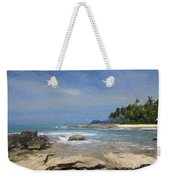 Rocks Trees And Ocean Weekender Tote Bag