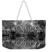 Rocks Village Bridge In Black And White Weekender Tote Bag