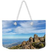 rocky Australian mountain summit Weekender Tote Bag