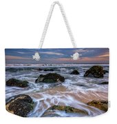 Rocky Beach At Sandy Hook Weekender Tote Bag
