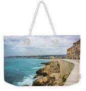 Rocky Coastline In Nice, France Weekender Tote Bag