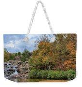 Rocky Falls In The Fall Weekender Tote Bag